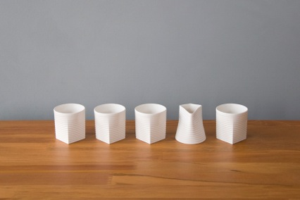 Sarah Backler  | White Espresso set including dash| McATAmney Gallery | Geraldine NZ