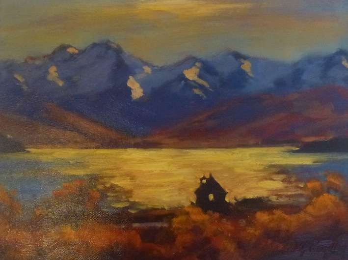 Philip Beadle | Winter Light Lake Tekapo | McATamney Gallery | Geraldine NZ