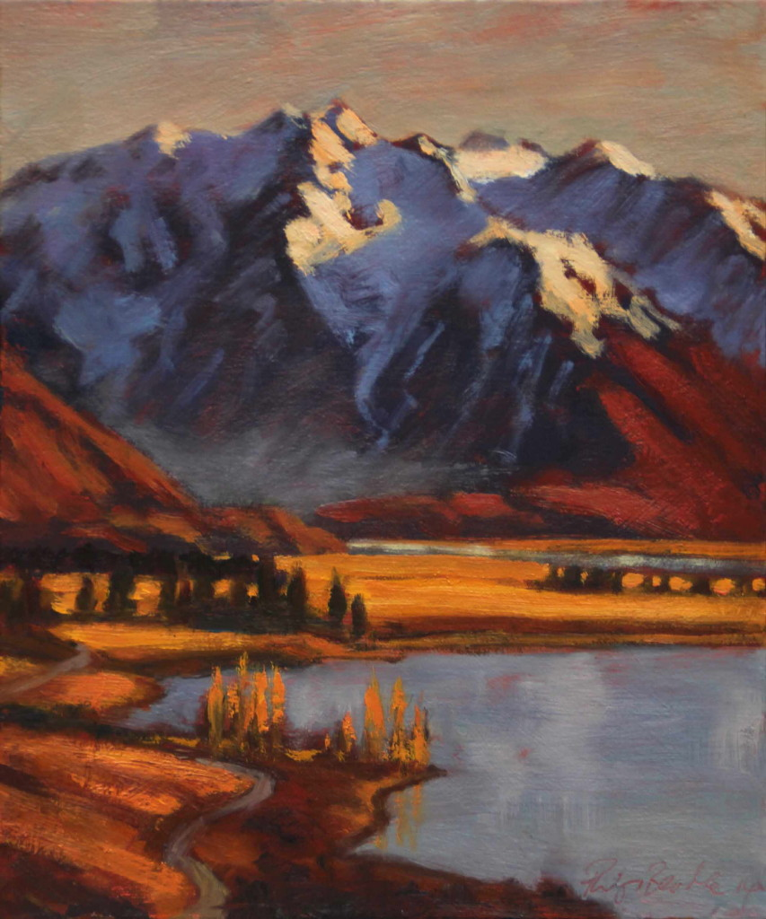 Philip Beadle | Glen Mary and Lake Ohau | oil | McAtamney Gallery | Geraldine NZ