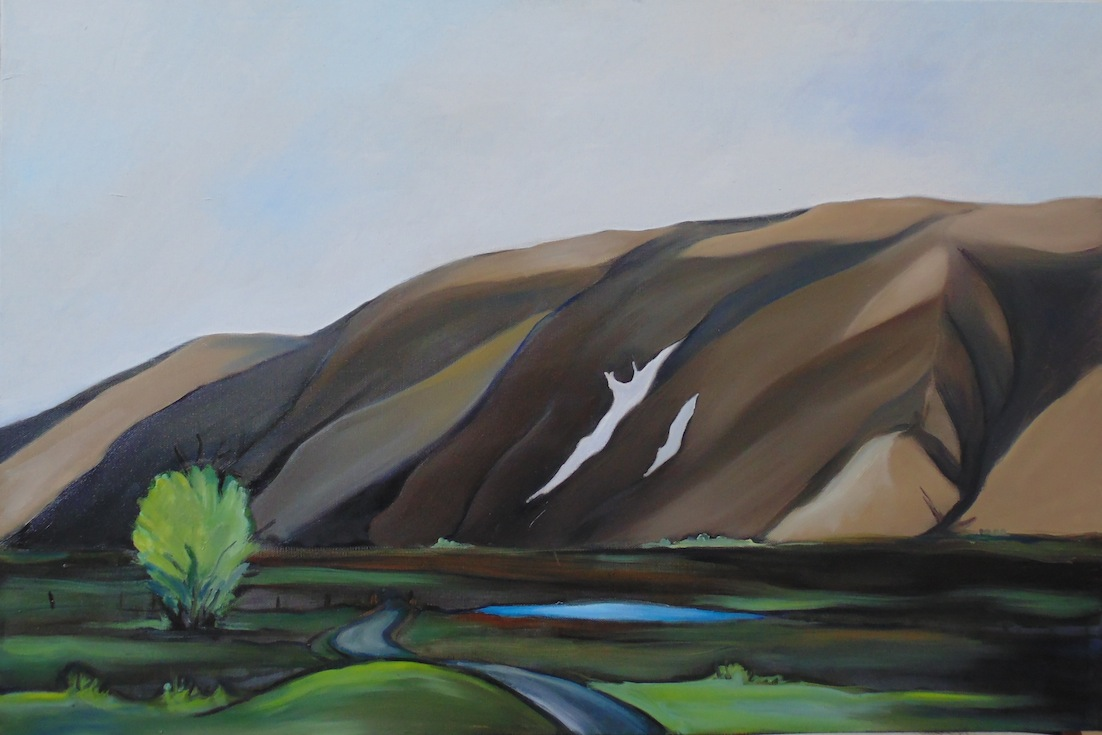 Virginia Burdon | Mt Harper | oil on canvas | McATamney Gallery | Geraldine NZ