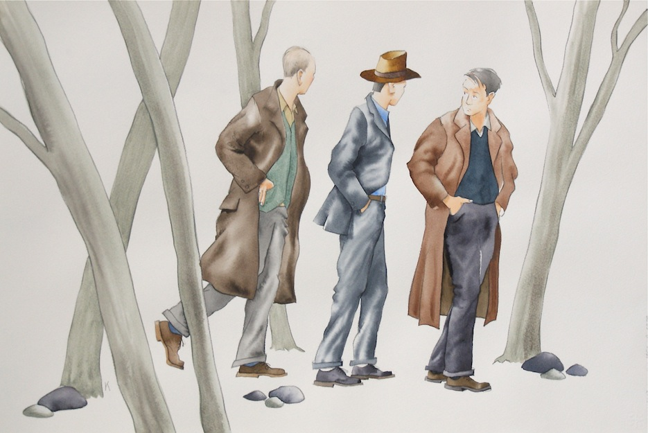 Bob Kerr | It must meet the needs of all the people | watercolour | McAtamney Gallery | Geraldine NZ