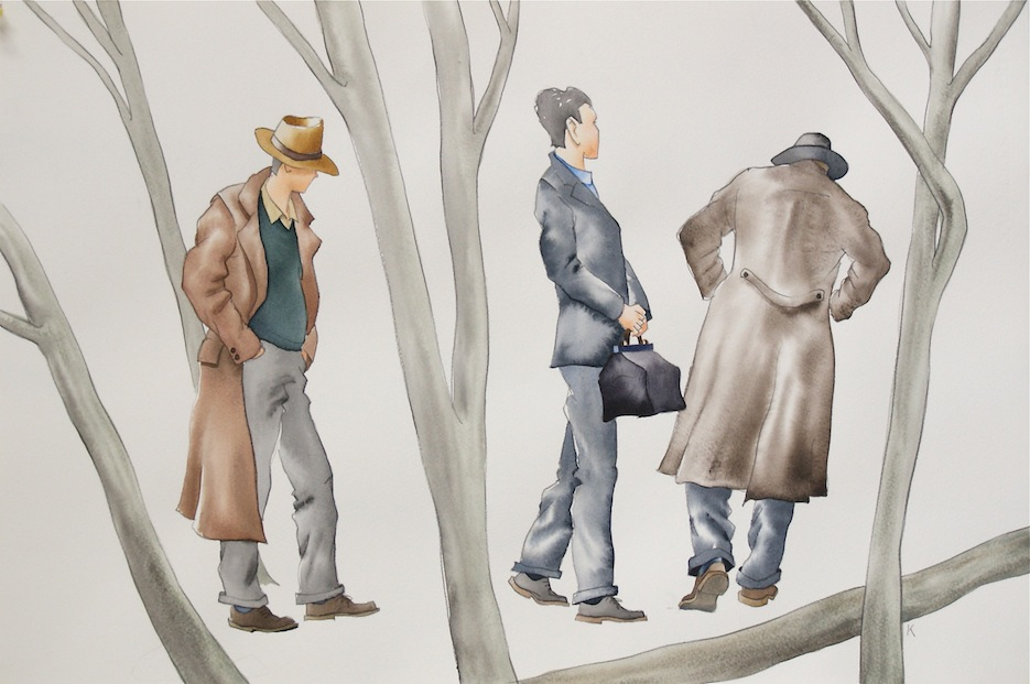 Bob Kerr | It Must be complete | watercolour | McAtamney Gallery | Geraldine NZ
