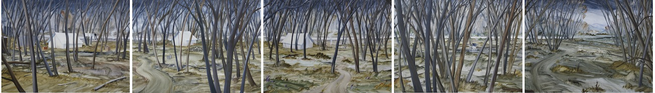 Bob Kerr | The Willows |  oil on board | McATamney Gallery | Geraldine NZ