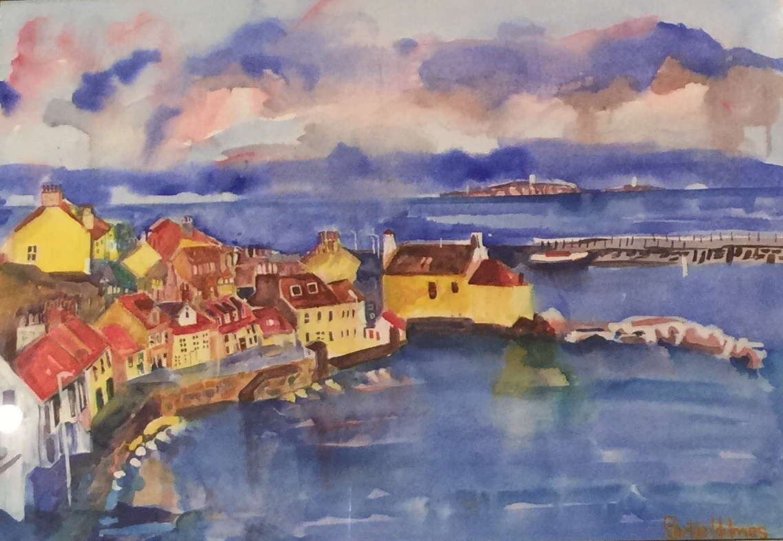 bertie-holmes-watercolour-looking-towards-the-Isle-of-may-from-Pittenweeem-Fife-Scotland .jpeg
