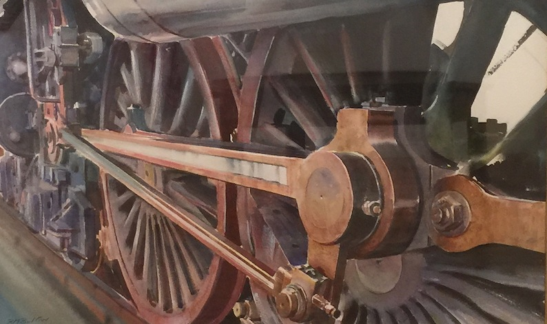 Richard Bolton  | Power of the Steam | Watercolour |  McAtamney Gallery and Design Store | Geraldine NZ