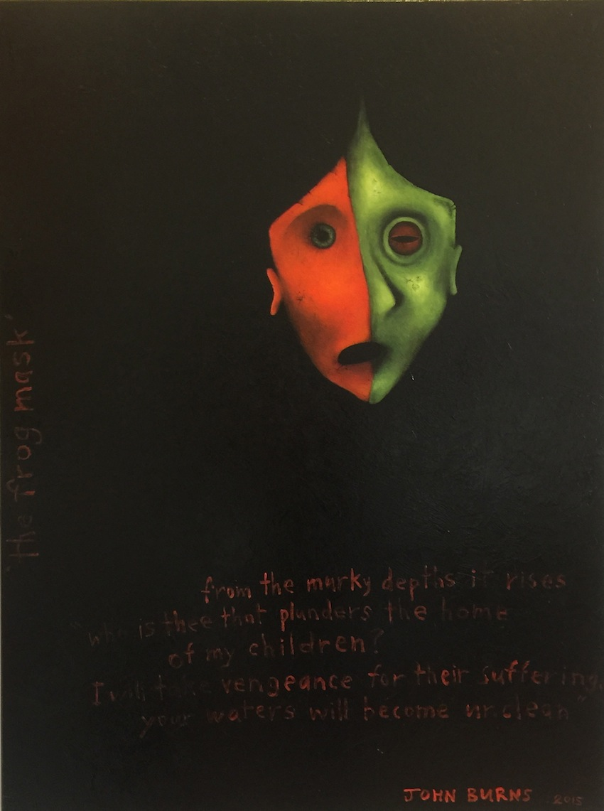 John Burns | The Frog Mask  | McATamney Gallery and Design Store | Geraldine NZ