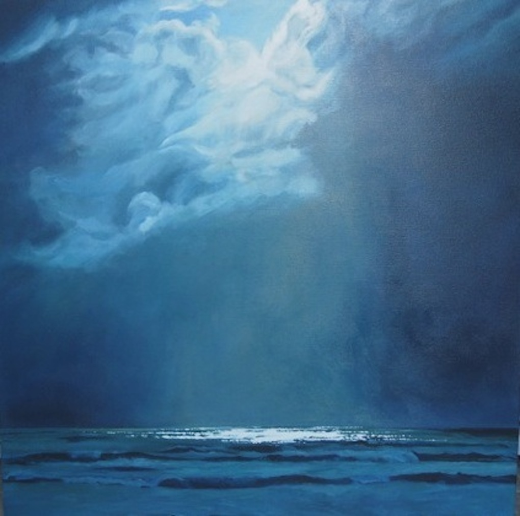 Christine Lang|  Storm Breaking | Acrylic on canvas| McAtamney Gallery and Design Store | Geraldine NZ