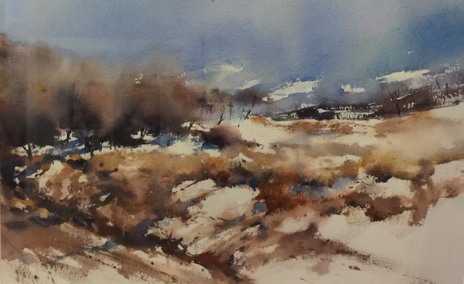 Bernadette-Parsons| Dansy Pass | Watercolour | McAtamney Gallery and Design Store | Geraldine N