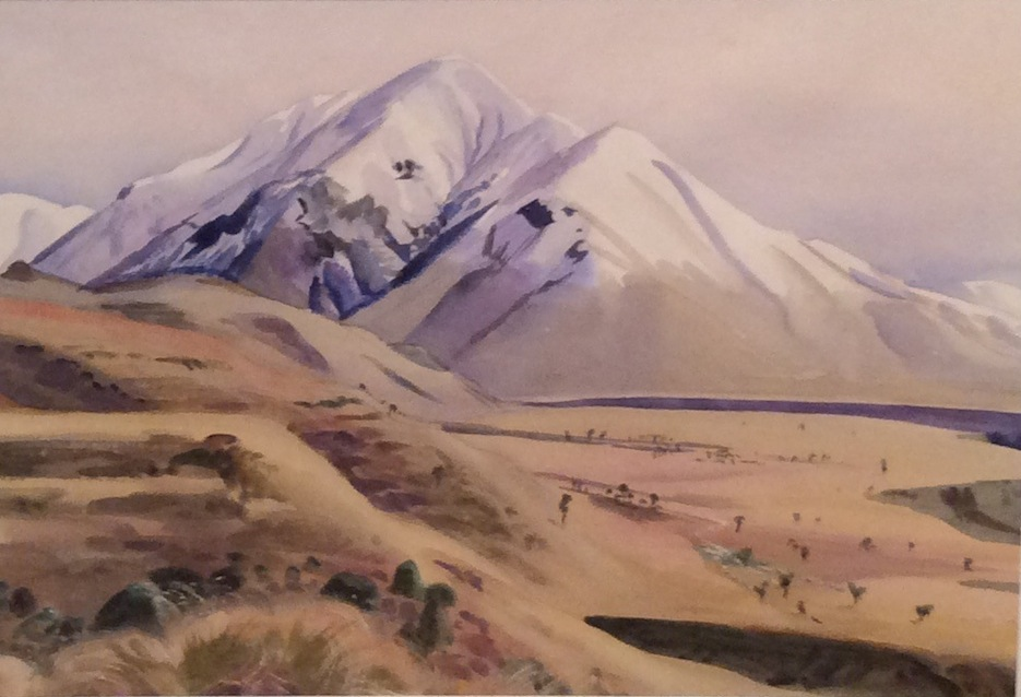 AA Deans |Mt Pakanui| 1959 fr 73.5 x 88 cm |McATamney Gallery and Design Store | Geraldine NZ
