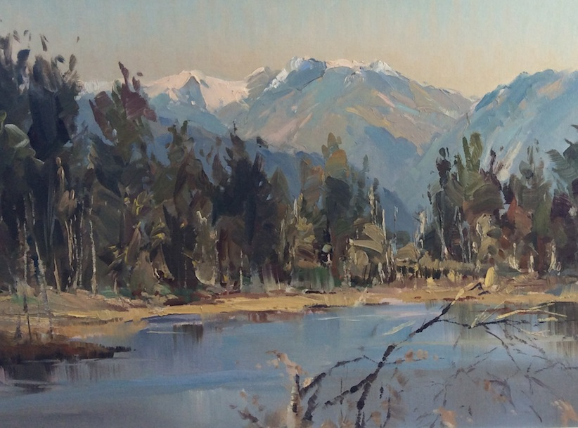D R Neilson | Lake Brunner | 58 x 73 .5 cm | McAtamney Gallery and Design Store | Geraldine NZ
