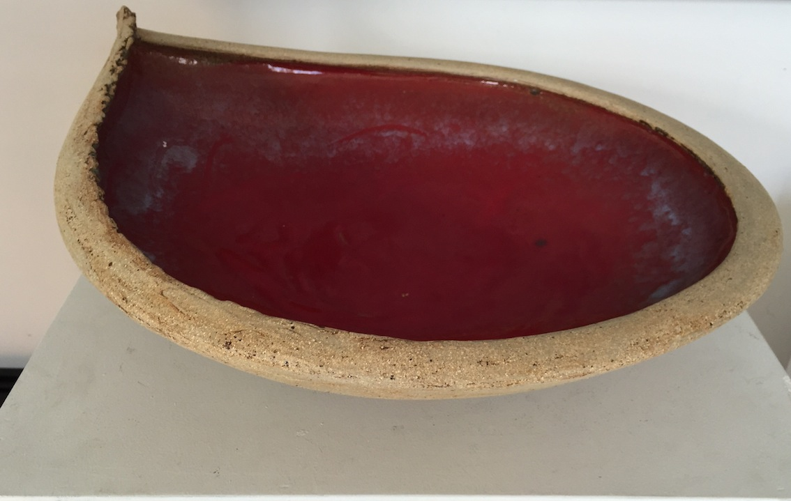 Stuart fyfe|  Wave Bowl Red | Raku Fired | McAtamney Gallery and Design Store | Geraldine NZ