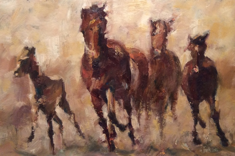 Grant Finch| Horses | McAtamney Gallery and Design Store | Geraldine NZ