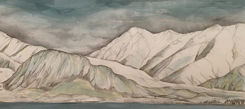 Susanna Izard | No 15  |Mt Hay |   watercolour | McAtamney Gallery and Design Store | Geraldine NZ