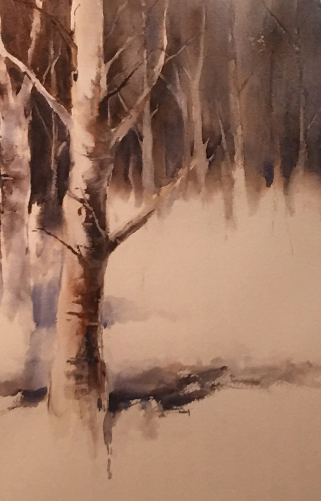 Bernadette Parsons | Treescape. |  Watercolour|McAtamney Gallery and Design store | Geraldine NZ