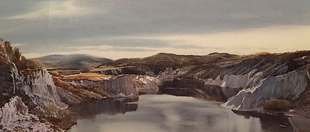 Richard Bolton  |St Bathans  | watercolour| McAtamney Gallery and Design Store | Geraldine NZ
