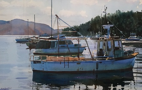 Richard Bolton| Boats at Picton| McAtamney Gallery and Design Store | Geraldine NZ