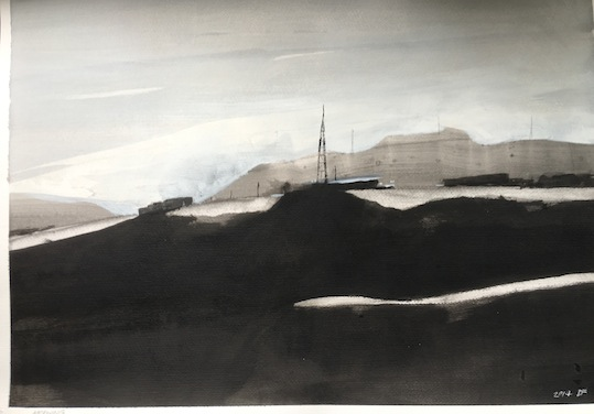 Brent Forbes  |Morning | works on paper |67 x 47.5 cm |McAtamney Gallery and Design Store | Geraldine NZ