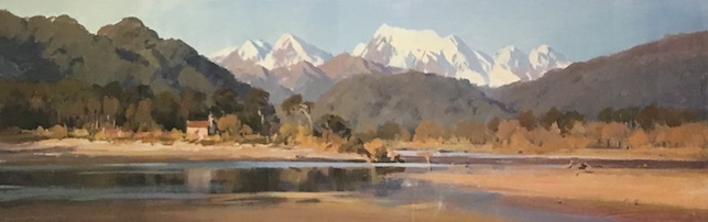 Brent Trolle  |Sunset Jacobs River |  | McATamney Gallery and Design Store | Geraldine | NZ