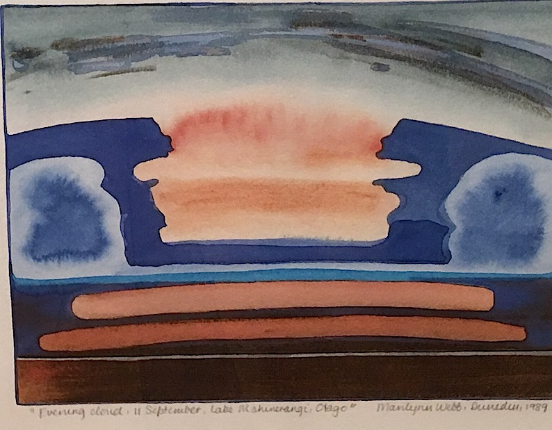 Marilynn Webb | Evening Cloud | 11 September  Lake Mahinerangi |Otago| McATamney Gallery and Design Store | Geraldine NZ