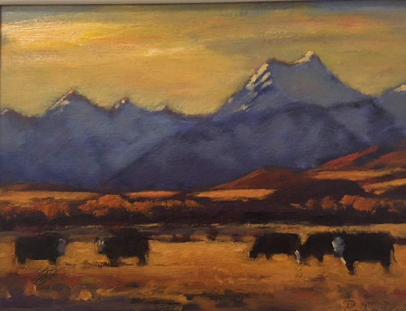 Philip Beadle | Evening Light | oil on board | McATamney Gallery and Design Store | Geraldine NZ