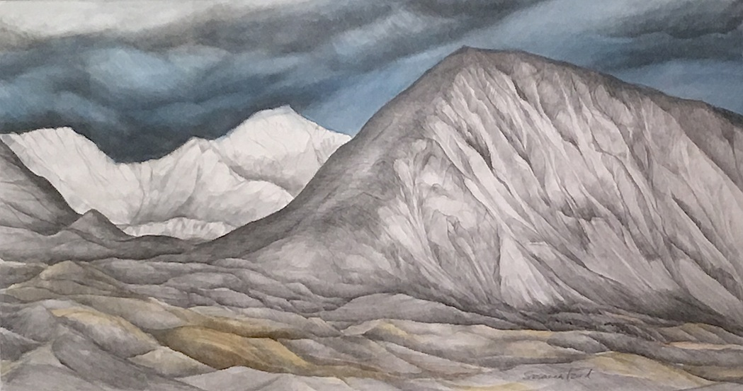 Susanna Izard| Mt Hays and Two Thumbs Range | Watercolour | McAtamney Gallery and Design Store | Geraldine NZ