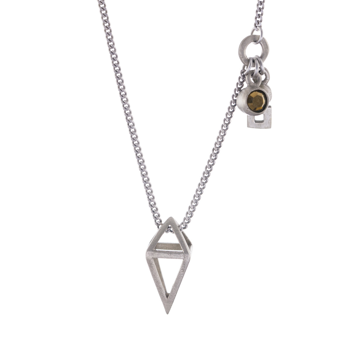 Hayley Inder Design - Sterling Silver  |Jewellery-Necklace-Geometric-Pendant-with-Charms- 708  |McAtamney Gallery and Design Store