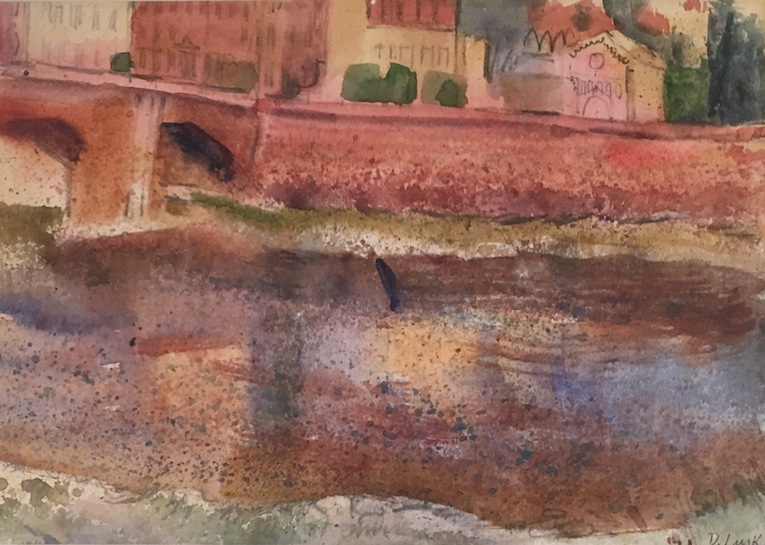 D  Lusk |Canals Venice| watercolour | McAtammney Gallery and Design store | Geraldine NZ