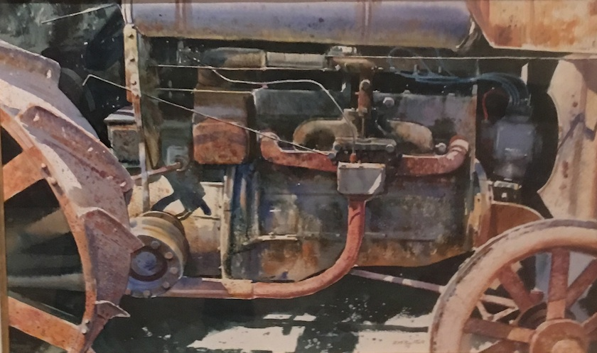 Richard  Bolton| Tractor Detail| watercolour| McAtamney Gallery and Design Store | Geraldine NZ