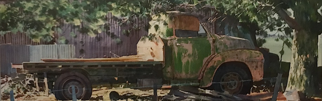 Richard Bolton |Abandoned Truck| watercolour | McAtamney Gallery and Design Store | Geraldine NZ