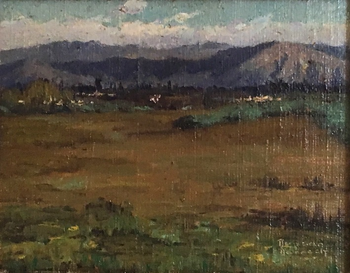 Duncan Darroch  Lower Burkes Pass| oil |McAtamney Gallery and Design Store | Geraldine NZ