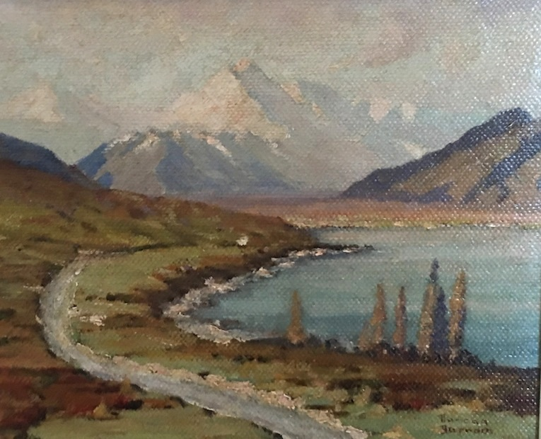 Duncan Darroch| Road to Mt Cook |oil | McAtamney Gallery and Design Store | Geraldine NZ