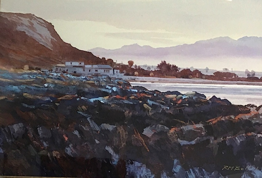 Richard Bolton |Rocky Shore| Kaikoura |watercolour| McAtamney Gallery and Design Store | Geraldine NZ