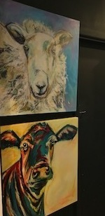 Denise Fisher Ewe on Blue | Blue Eyes   | McAtamney Gallery and Design Store | Geraldine NZ