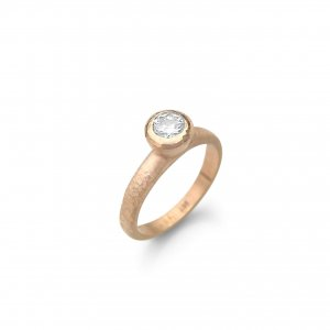 Debra Fallowfield |  Textured Rose Gold Moissanite | McATamney Gallery and Design Store | Geraldine NZ