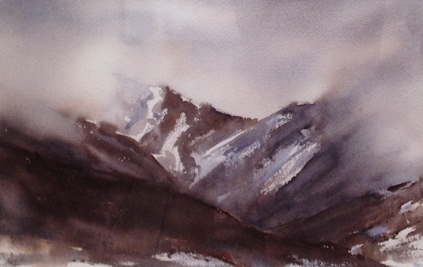 Bernadette Parsons| Arthurs Pass Magic | watercolour  | McAtamney Gallery and Design Store | Geraldine NZ