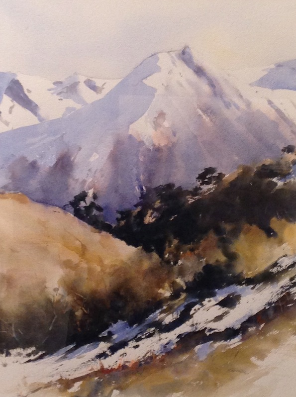 Bernadette Parsons| Arthurs pass| watercolour | McAtamney Gallery and Design Store | Geraldine NZ