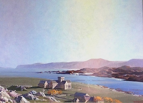 AA Deans |  Iona   Scotland | oil on board | McAtamney Gallery and Design Store | Geraldine NZ