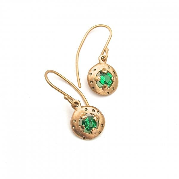Debra Fallowfield | Green Emerald errings |McAtamney Gallery and Design Store