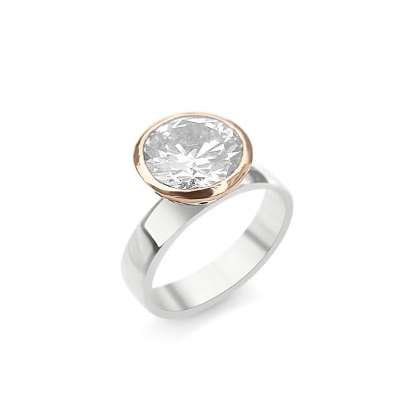 Debra Fallowfield | Creamy white topaz cup ring | McAtamney Gallery and Design Store | Geraldine NZ