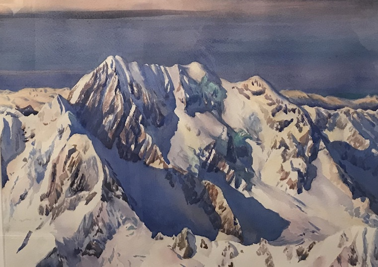 AA Deans | Southern Alps | watercolour | McAtamney Gallery and Design Store | Geraldine NZ