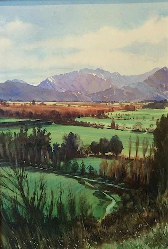 Richard Bolton | Pleasant Valley Looking towards Four Peaks Geraldine | McAtamney Gallery and Design Store | Geraldine NZ