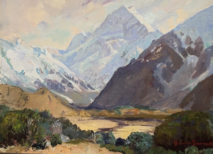 Duncan Darroch |Mt Cook | oil  | McAtamney Gallery and Design Store | Geradline NZ