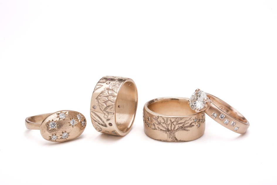Debra Fallowfield| Gold Rings| McAtamney Gallery and Design Store | Geraldine NZ