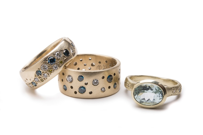 Debra Fallowfield | Gold Rings  | McAtamney Gallery and Design store | Geraldine NZ
