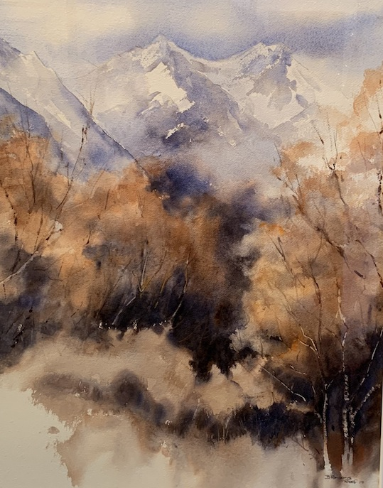B Parsons |Untitled  | watercolour | McAtamney Gallery and Design Store | Geraldine NZ