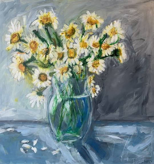Denise Fisher | Large Daisy  |Mixed Media | McAtamney Gallery and Design Store | Geraldine NZ