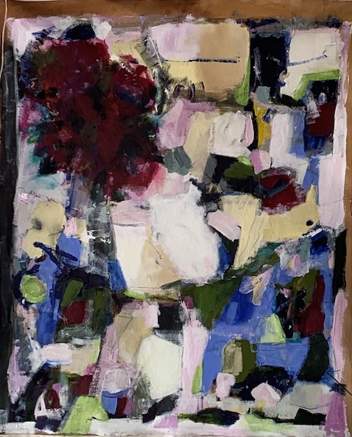 Norah Johnson |Peonies |Mixed Media | McAtamney Gallery and Design Store | Geraldine NZ