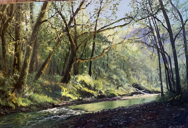 D  lambert | Pleasant Flat Stream ( Doc CampgroundSouth Haast|McATamney Gallery and Design STore Geraldine NZ